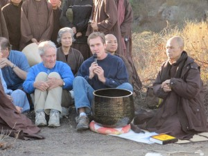 Drew & James Hubbell w Thich Nhat Hanh