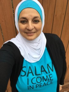 Rose Hamid in Salam Peace shirt