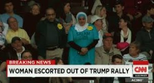 Rose and Marty Rosenbluth standing at Trump rally